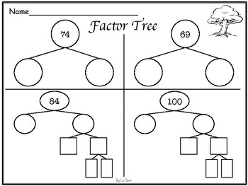 Factor Tree- Worksheets and Template