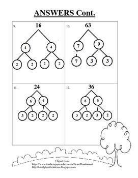 Factor Trees FREEBIE