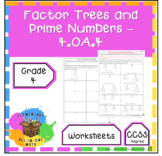 Factor Trees and Prime Numbers Worksheet - (4.OA.4)