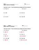 Factor Trinomials Quiz