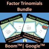 Factor Trinomials Worksheet 1 Bundle Google, BOOM and PDF