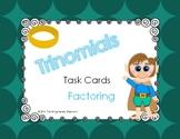 Factor Trinomials (a =1) Task Cards Common Core Aligned