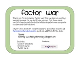 Factor War Card Game