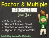 Factor and Multiple Scoot Game