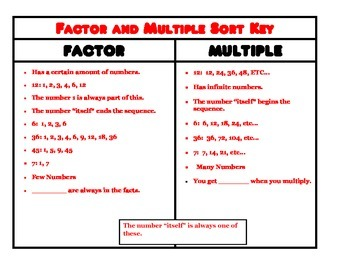 Factor and Multiple Sort