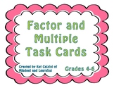 Factor and Multiple Task Cards