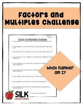 Factor and Multiples Challenge
