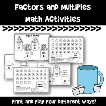 Factor and Multiples Print and Play Activities