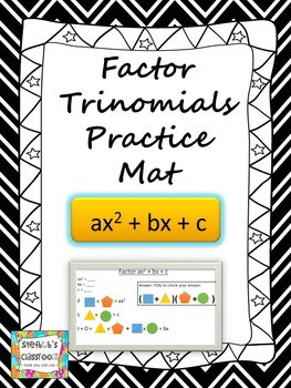Factoring Trinomials Graphic Organizer Dry Erase Mat