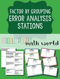 Factor by Grouping Error Analysis Stations
