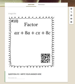 Factor by Grouping Method   (Google Form, Video Lesson & Notes!)