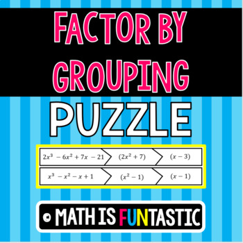 Factor by Grouping Puzzle