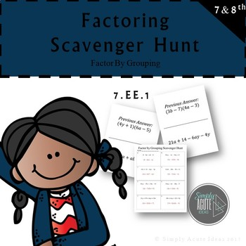 Factor by Grouping Scavenger Hunt
