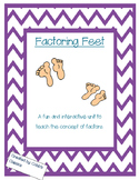 Factor feet--finding factors of a number