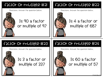 Factor or Multiple Task Cards