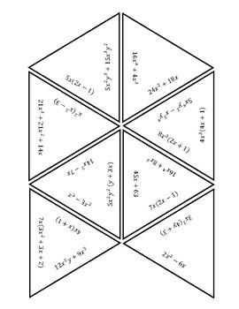 Factor out GCF Puzzle