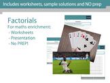 Factorials (!) - Maths enrichment
