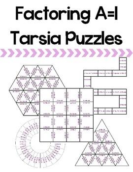 Factoring A = 1 Tarsia Puzzles
