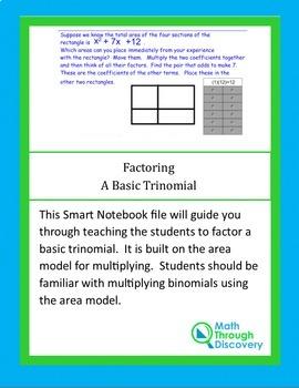 Algebra I:  Factoring A Basic Trinomial