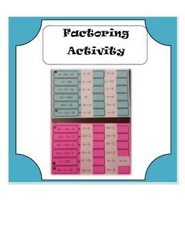 Factoring Activity