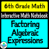 Factoring Algebraic Expressions for Interactive Math Notebook