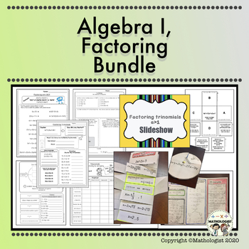 Factoring BUNDLE, Algebra, EVERYTHING you need to know about factoring