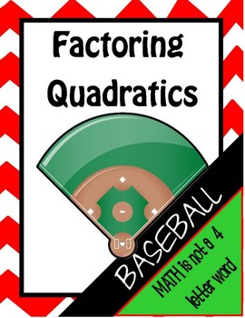 Factoring Quadratics Baseball Review Game