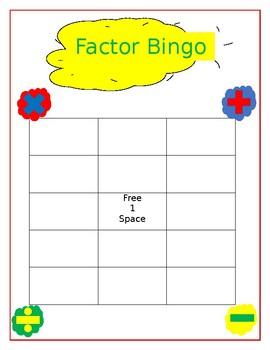 Factoring Bingo!