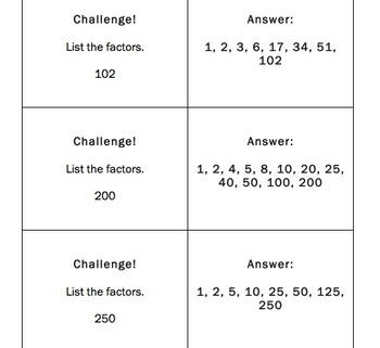 Factoring Board Game Cards