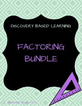 Factoring Bundle! Learn through discovery!
