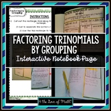 Factoring By Grouping Interactive Notebook Page