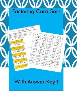 Factoring Card Sort