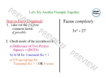 Factoring Completely Lesson 1 of 2