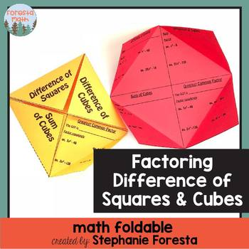 Factoring Difference Of Squares Teaching Resources Teachers Pay