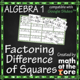 Factoring - Difference of Squares - GOOGLE Slides