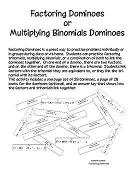 Factoring Dominoes - PP