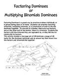 Factoring Dominoes - PP