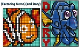 Factoring Dory & Nemo, 20-Worksheet Collaborative Math Mosaics
