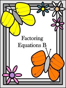 Factoring Equations B