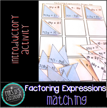 Factoring Expressions Matching Activity