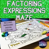 Factoring Expressions Activity with Mazes