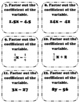 Factoring Expressions Task Cards Matching Game - With Riddle