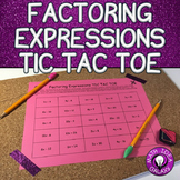 Factoring Expressions Activity- Tic Tac Toe