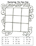 Factoring Expressions Tic Tac Toe Game