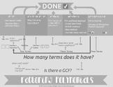 Factoring Flow Chart Classroom Poster
