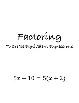 Factoring Foldable - Interactive Notebook