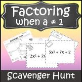 Factoring Polynomials Activity {Factoring Trinomials Algebra Scavenger Hunt}