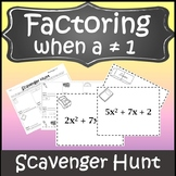 Factoring Trinomials Algebra Scavenger Hunt {Factoring Quadratics Activity}
