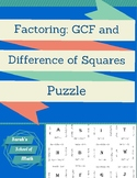 Factoring Greatest Common Factor and Difference of Squares Puzzle
