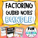 Factoring Guided Notes Bundle!